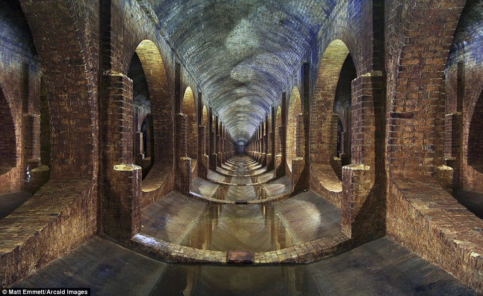 Photographer Matt Emmett's image of a covered 19th-century reservoir in London's Finsbury Park 'captured the imagination of the delegates' at the World Architecture Festival in Berlin Read more: http://www.dailymail.co.uk/travel/travel_news/article-3965280/Building-great-careers-stunning-shortlisted-entries-Architectural-Photography-Awards.html#ixzz4RCYLcQ00 Follow us: @MailOnline on Twitter | DailyMail on Facebook