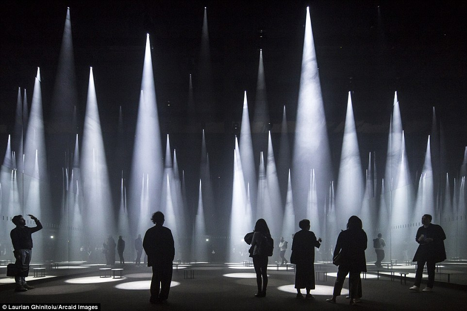The magic of this 'forest of light' installation, by Sou Fujimoto Architects, in Milan, has been brilliantly captured by Laurian Ghinitoiu Read more: http://www.dailymail.co.uk/travel/travel_news/article-3965280/Building-great-careers-stunning-shortlisted-entries-Architectural-Photography-Awards.html#ixzz4RCZBXRPd Follow us: @MailOnline on Twitter | DailyMail on Facebook